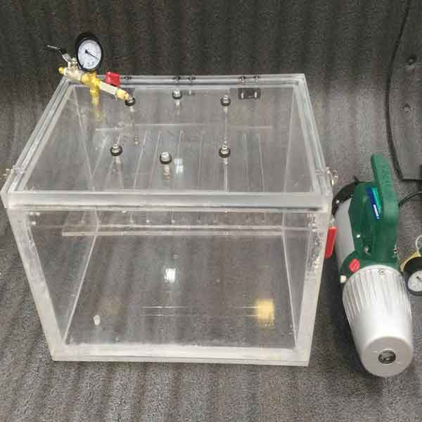clear acrylic vacuum cube chamber
