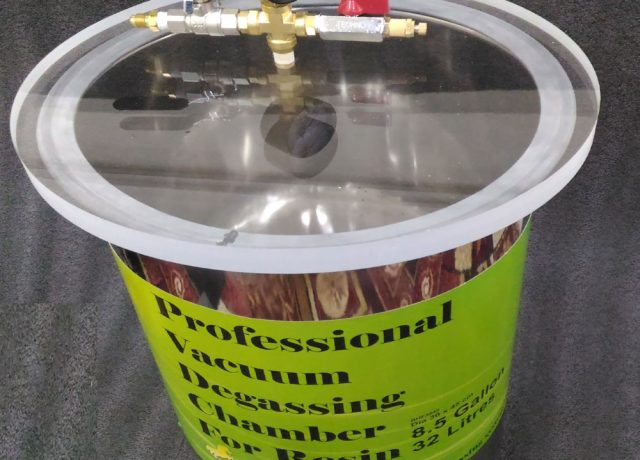 vacuum resin degassing chamber