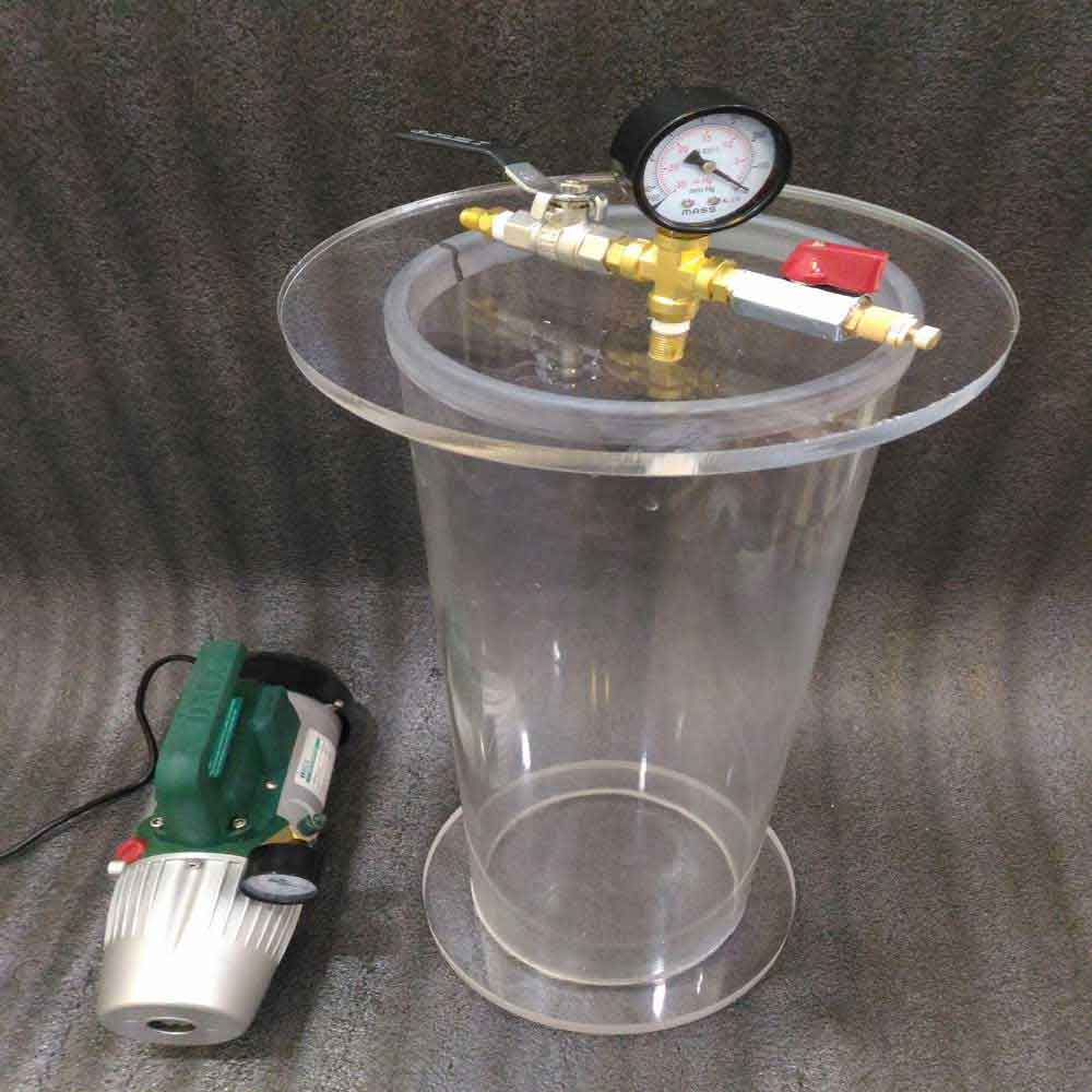 clear acrylic round vacuum chamber